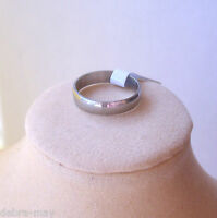 Stainless Steel Silver Band Finger Thumb Ring - Unisex