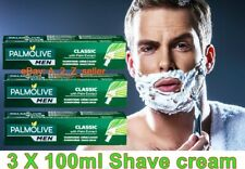 3 X Original Colgate Palmolive Classic Men Shaving shave Cream Palm Extract UK
