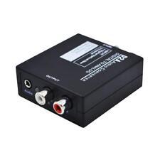 Convertisseur Audio Numérique Vers Analogique Adaptateur Toslink RCA L / R