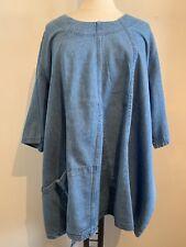 LA BASS Jeans-Tunika blau Gr 48-52 (2) Lagenlook Taschen DENIM Lagenlook