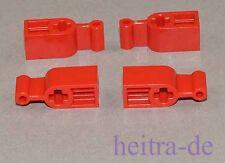 LEGO Technik - 4 x Hebel, Schalter, Umstellhebel für Kupplung rot / 6641 NEUWARE