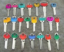 Lot  of  20   Misc  COLOR  COLE  Key Blanks    HOUSE, CAR, etc..  ART,CRAFT...