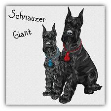 Schnauzer Giant Dogs Car Bumper Sticker Decal 5'' x 5''