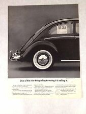 1966 VW  Beetle Print Ad One of the Nice Things About Owning it is Selling It