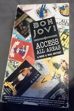 Rare BON JOVI Access All Areas A Rock & Roll Odyssey VHS 1990