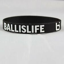 Basketball BIL Silicone Bracelet Wristband Black White Ball Is Life