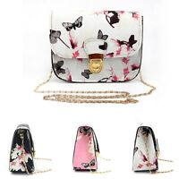 Women Floral Mini Fashion Chain Bag Clutch Shoulder Tote Purse Handbag Messenger