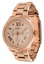 Fossil Authentic Watch AM4483 Rose Gold 40mm Cecile Stainless Steel Multifunct