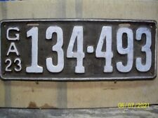 Vintage 1923 Georgia  License Plate ...GA Tag