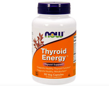 NOW FOODS THYROID ENERGY 90 VEG CAPS - SUPPORTS HEALTHY THYROID AND METABOLISM