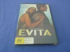 Evita DVD Madonna Antonio Banderas Jonathan Pryce R4 Postage