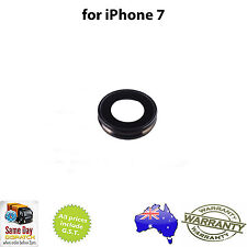 Rear Back Camera Lens Cover (Frame with Glass) - BLACK for iPHONE 7