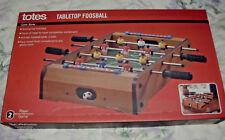 TOTES 2 PLAYER MINIATURE TABLETOP HOME/OFFICE FOOSBALL GAME NIB FOOSEBALL NIB