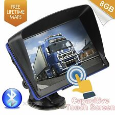 "7"" GPS Navigation System Nav Sat 8GB Bluetooth Lifetime Free Maps for Truck&Car"