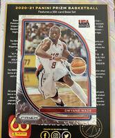 Dwyane Wade 2020-21 Panini Prizm USA Basketball #9 Miami Heat HOF