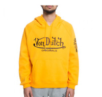 New, Von Dutch Men's Pullover Hoodie, Gold, 3XL *A-15.21oc1*