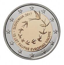 """2 Euro commemorative SLOVÉNIE 2017 """"10e anniv. de l'euro en Slovénie"""""""