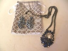 PARK LANE JEWELRY SPELLBOUND NECKLACE AND AUSTRIAN CRYSTAL EARRINGS