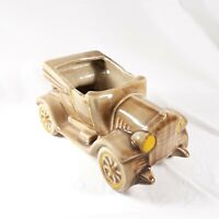 Vintage Automobile Car Planter Brown McCoy Ceramic