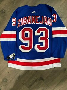 New York Rangers Mika Zibanejad Authentic Adidas Home Jersey Size 54 Adizero XL