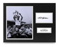 Nat Lofthouse Signed 16x12 Photo Display Bolton Wanderers Autograph Memorabilia