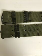 Vintage cotton webbed military utility/ammo belt -- fully adjustable --