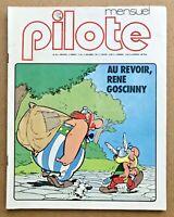 Revue BD PILOTE N°43 de Déc.1977 Mort de GOSCINNY Fred F'Murr Lauzier Astérix