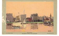 P.F. Volland Art-Lovers Chicago harbor skyline postcard, 1914, never mailed