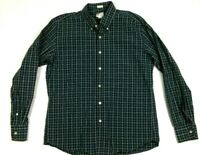 J. CREW Men's Shirt Large Blue Plaid Long Sleeve Button Washed Casual L
