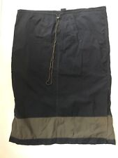 Venezia Sport sz 22/24 Navy Blue w/ Olive Green Stripe Long Modesty Skirt Nylon