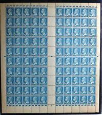 "FRANCE YVERT 181a "" PASTEUR 1F50 BLUE MARSEILLE COMPLETE SHEET "" MNH VF SIGNED"