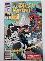 MARC SPECTOR: MOON KNIGHT #20 (1990) PUNISHER! SPIDER-MAN! HTF NEWSSTAND VARIANT