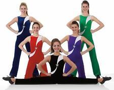 All Star Dance Costume BLUE Cheerleader Jumpsuit Unitard Gymnastic Adult X-Large