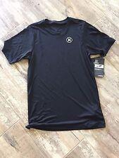 NWT Mens Nike Hurley drifit icon short Sleeve Black Shirt XS UPF 50 $40