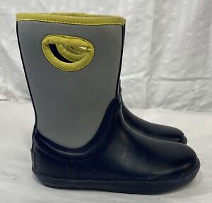 UGG Boys Kex Blue/Grey Rubber Rain Boots Size 2
