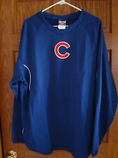 Chicago Cubs Authentic Majestic MLB Therma Base Tech Fleece SWEATSHIRT Men's XL