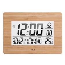 Cn _ Modern LCD Digital Wanduhr Alarm Datum Tisch Bettseitig Temperatur
