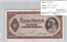 BILLET HONGRIE - 100 PENGO  5-4-1945