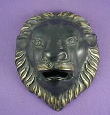 Bronze Lion Wall Scuplture with Open Mouth