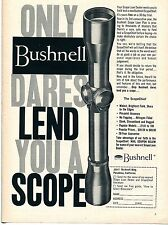 1957 Bushnell The Scopechief Hunting Rifle Scope Print Ad
