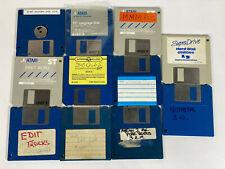 Vintage 1980s Atari St,Ste - Bulk Software/Floppy Disk Bundle - 1980s Computer