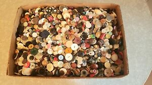 Antique~Vintage~Mixed Lot of 13+ LBs Collector Buttons for Sewing or Craft