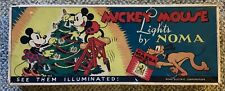 WALT DISNEY  MICKEY MOUSE  NOMA LIGHTS  C. 1930'S  HORACE  DONALD  CHRISTMAS