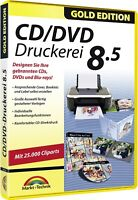 CD-DVD Druckerei 8.5 Gold Edition - CD Labels, CD Cover und Booklets erstellen
