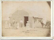 Photo 1890 - Habitation à SANTA GENOVEVA - Argentine - Personnages Cheval