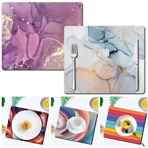 UK Watercolor Placemats Dining Table Mats Dinner Home Kitchen PlaceMat Coasters