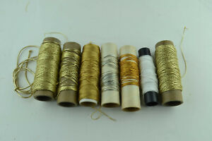 Huge Lot String Gold Twine On Spools Craft Multi-use Multi-purpose Cord Bulk Lot