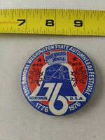 Vintage WASHINGTON STATE AUTUMN LEAF FESTIVAL 1976 Button Pin Pinback *QQ24