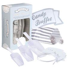 """Candy Bar Set """"Süßigkeiten"""" Schild  Schaufel  Papiertüten Vintage Hochzeit Deko"""