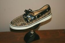 Sperry Top-Sider 9771577 Biscayne Leopard Boat Deck Moc Flats Shoes Women's 8M